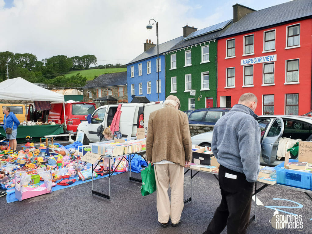 Découverte du marché de Bantry dès le lendemain de notre arrivée en Irlande.